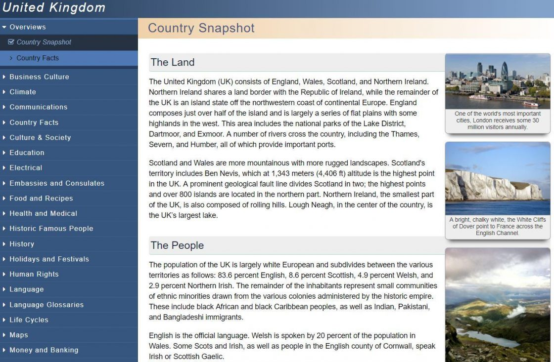 Screen shot british isles