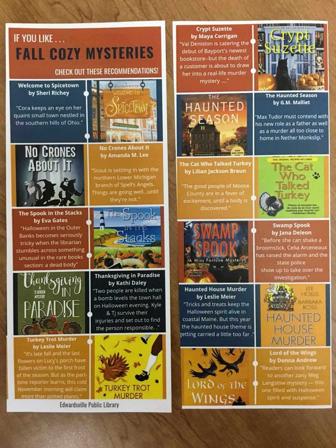 Fall cozy mysteries