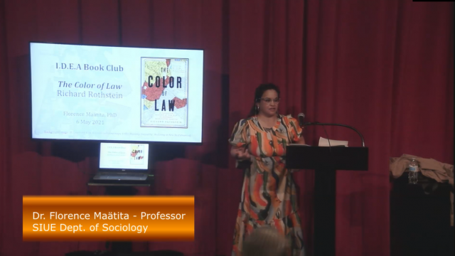 Presentation by Dr. Florence Maätita for the I.D.E.A. Book Club