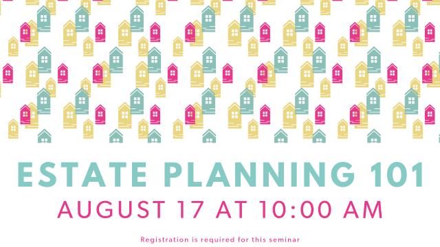 Estate Planning 101 website TV slide