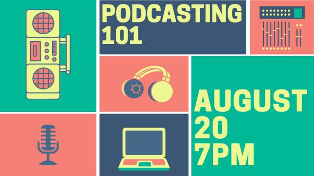 Podcasting 101 website tv slide