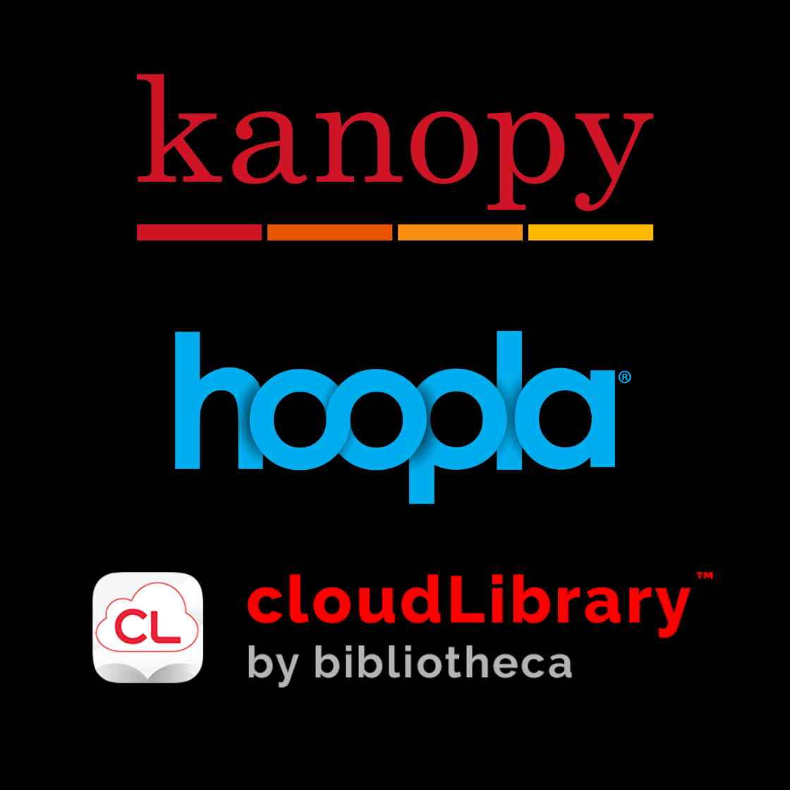 Kanopy hoopla cloudlibrary