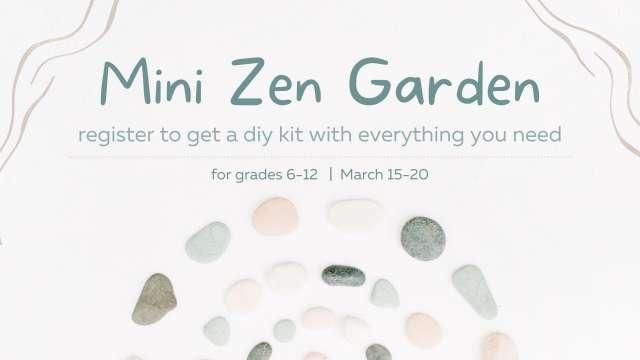 Mini Zen Garden 1